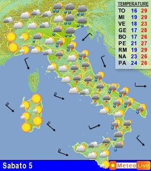 Previsione meteo per domani