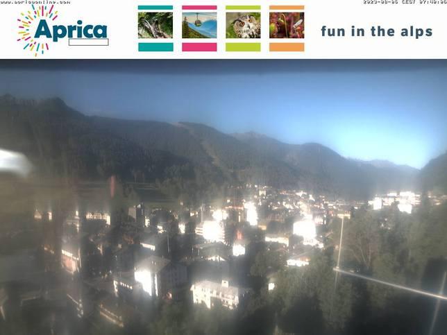 Webcam LIVE di Aprica centro 1.200m