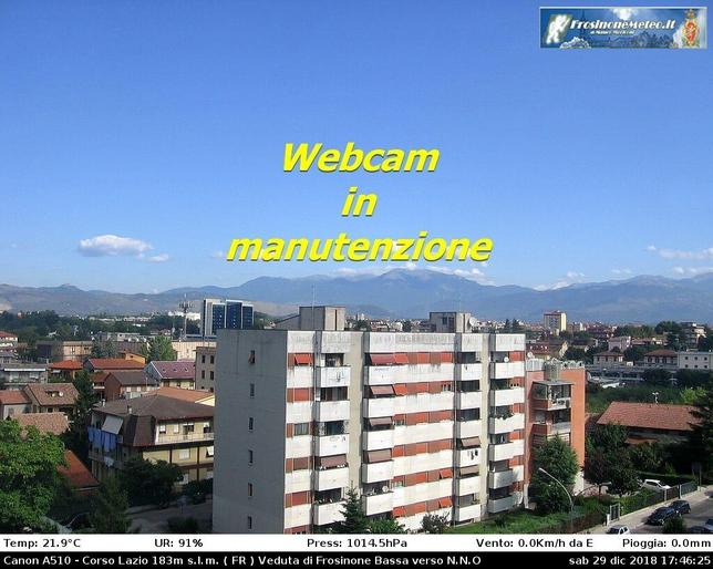 Webcam LIVE di Frosinone