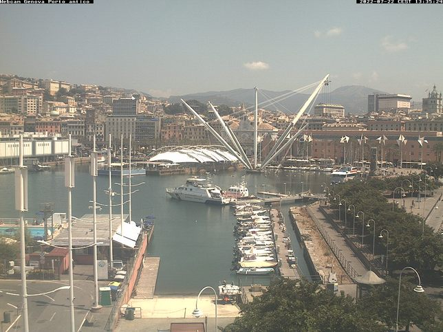 Webcam LIVE di Genova porto antico
