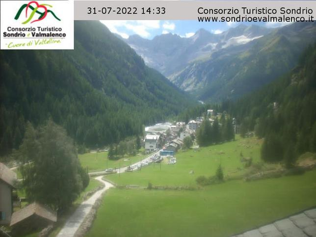 Webcam LIVE di Chiesa Valmalenco