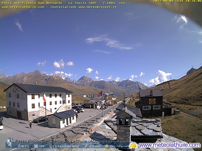 Webcam LIVE di Piccolo San Bernardo