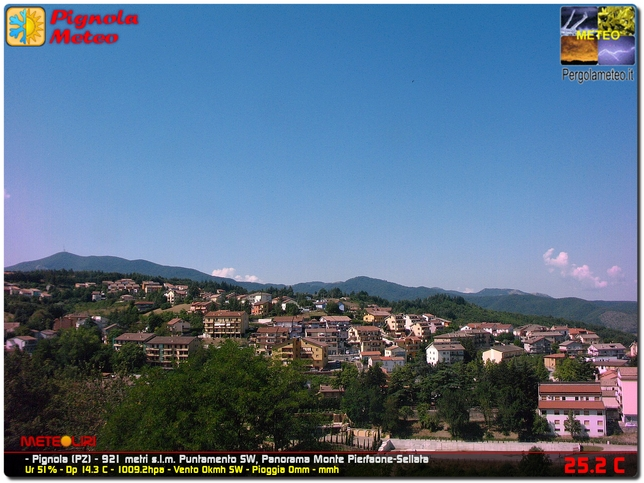 Webcam LIVE di Pignola