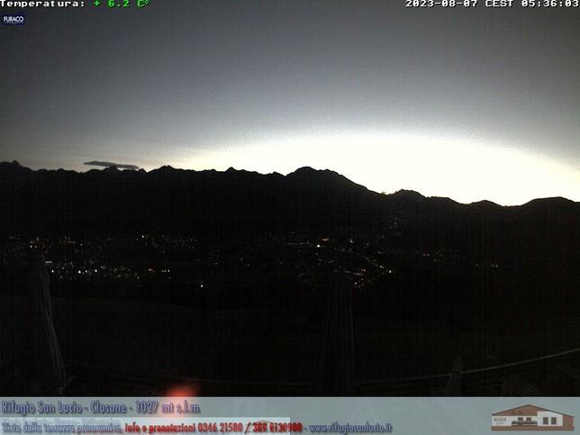 Webcam LIVE di Clusone 1027m